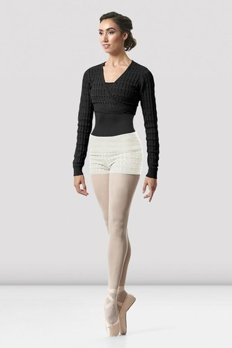 BLOCH VENETIA WRAP KNIT WARM-UP TOP (Z5539)