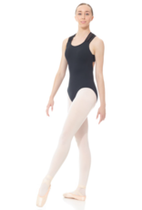 MONDOR LEOTARD WITH CROSSED STRAPS IN MESH (3633)