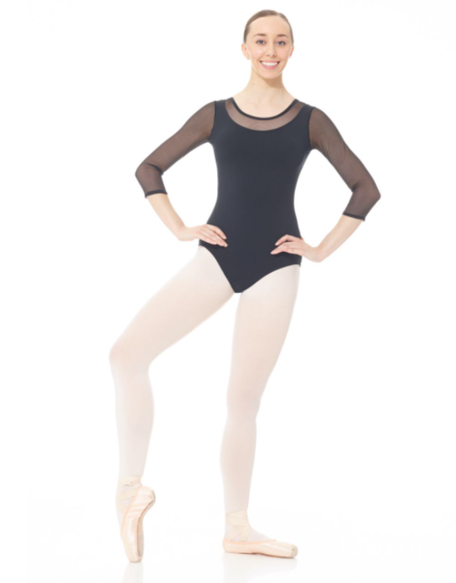 MONDOR 3/4 SLEEVE MESH LEOTARD (3636)