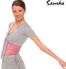 SANSHA LILLY SHORT SLEEVE WRAP TOP (KC10)