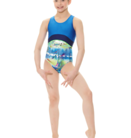 MONDOR CHILD GYMNASTIC PRINTED LEOTARD (17838)