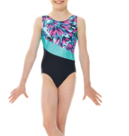 MONDOR SLEEVELESS PRINTED LEOTARD FOR GYMNASTIC (27858)