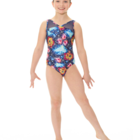 MONDOR ADULT GYMNASTIC TANK LEOTARD WITH MESH (17817)