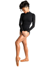 DANSHUZ MESH BLOCKED LONG SLEEVE LEOTARD (19125C)