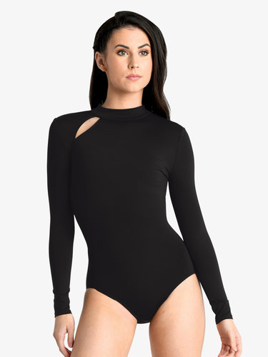DANSHUZ COLD SHOULDER LEOTARD (19119C)