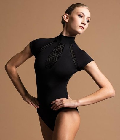 MOTIONWEAR KEYHOLE INSERT MOCK NECK LEOTARD (2573)
