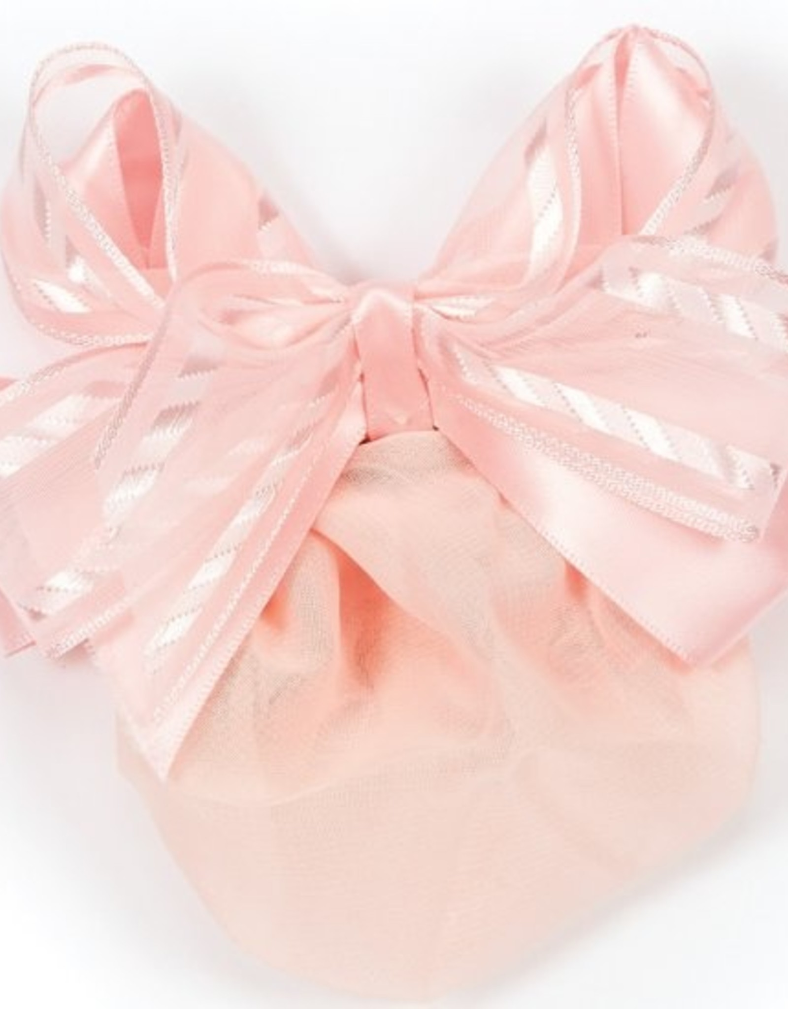 DASHA DESIGNS STRIPE EDGED SHEER RIBBON SNOOD (4027)