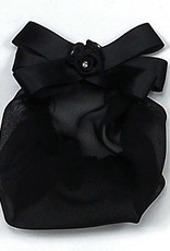 SATIN ROSES WITH STONES SNOOD (4057)
