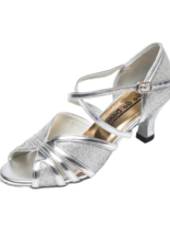 SILVER GLITTER LATIN SHOES (GO1006)