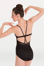 BODY WRAPPERS POINTELLE MESH BUSTIER LEOTARD (P1182)