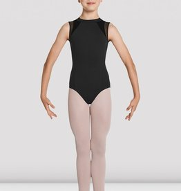 MIRELLA ZIP BACK VELVET PANEL LEOTARD (M458C)