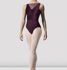 MIRELLA MESH PANEL V-BACK LEOTARD (M3075LM)