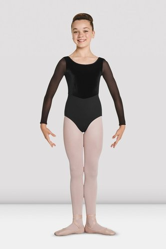 MIRELLA VELVET LONG SLEEVE LEOTARD (M115C)