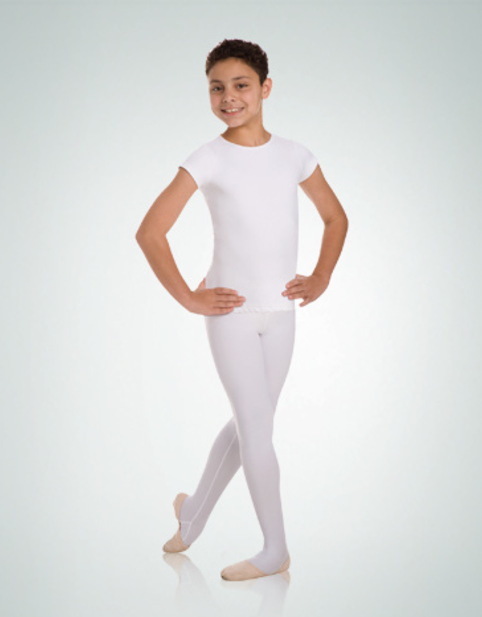 BODY WRAPPERS BOYS BALLET SHORT SLEEVE PULLOVER (B400)