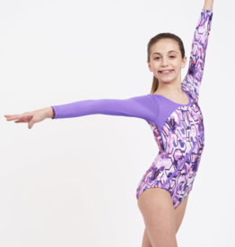 CAPEZIO CHILD GYMNASTICS TECHNO SPLASH LONG SLEEVE LEOTARD (FS6774C)