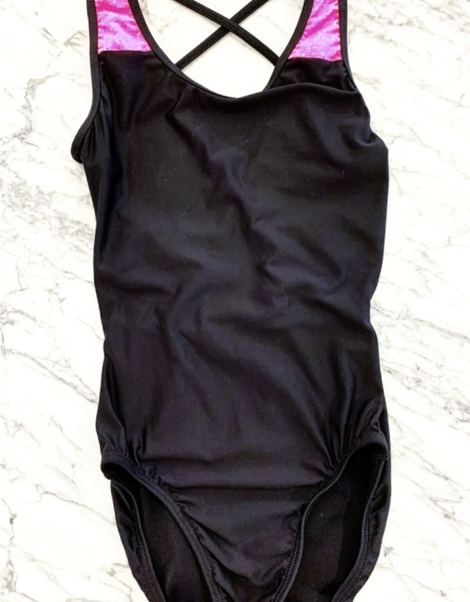 MOTIONWEAR GYM DOUBLE STRAP X-BACK LEOTARD (1496)