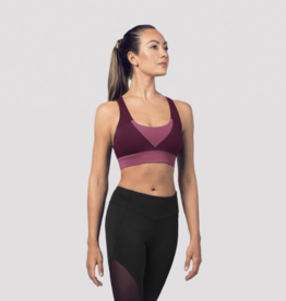 BLOCH ADULT COLOR PANEL CROSS BACK CROP TOP (FT5199)