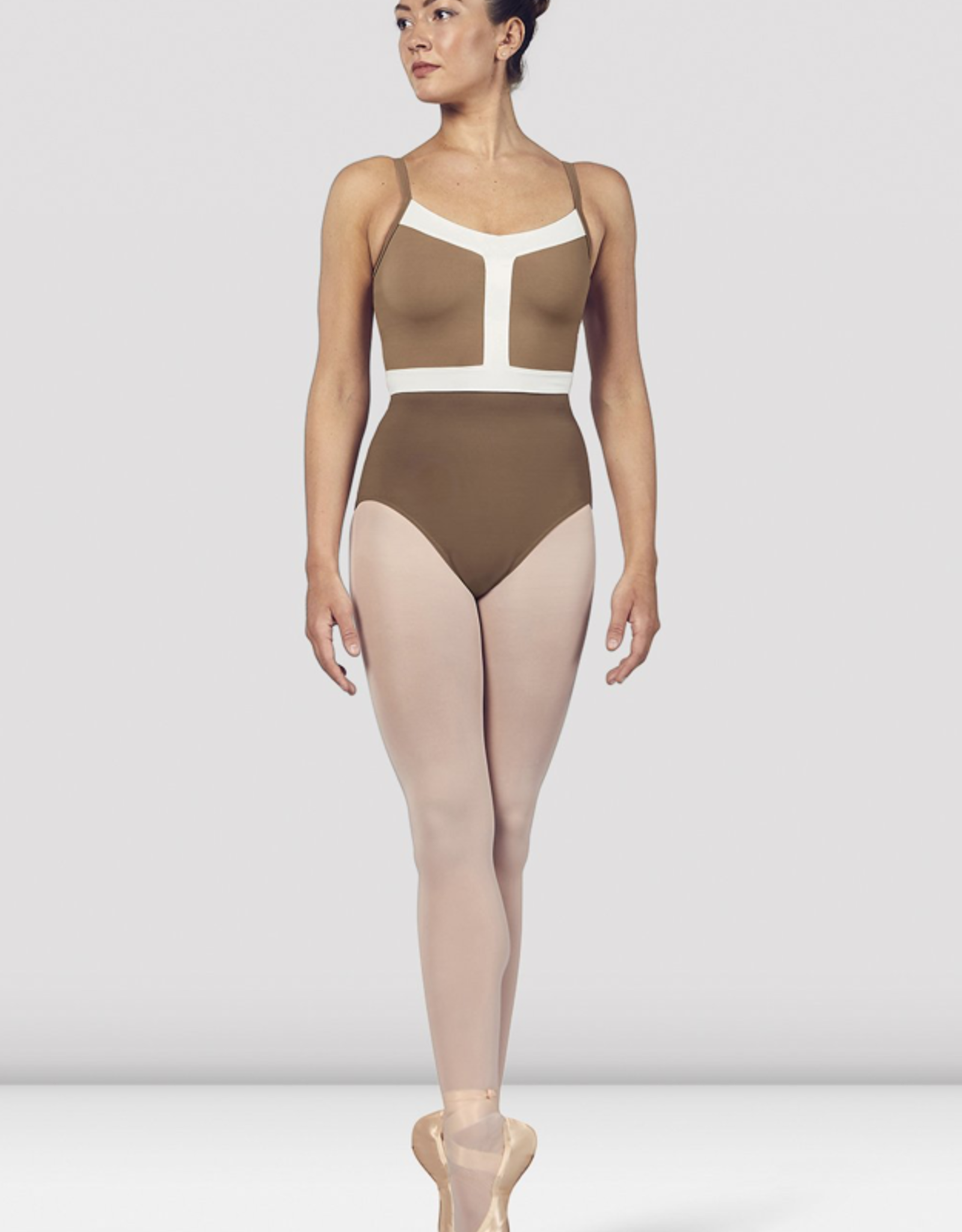 BLOCH AMORA ADULT CONTRAST COLOR PANEL CAMISOLE LEOTARD (L4937)
