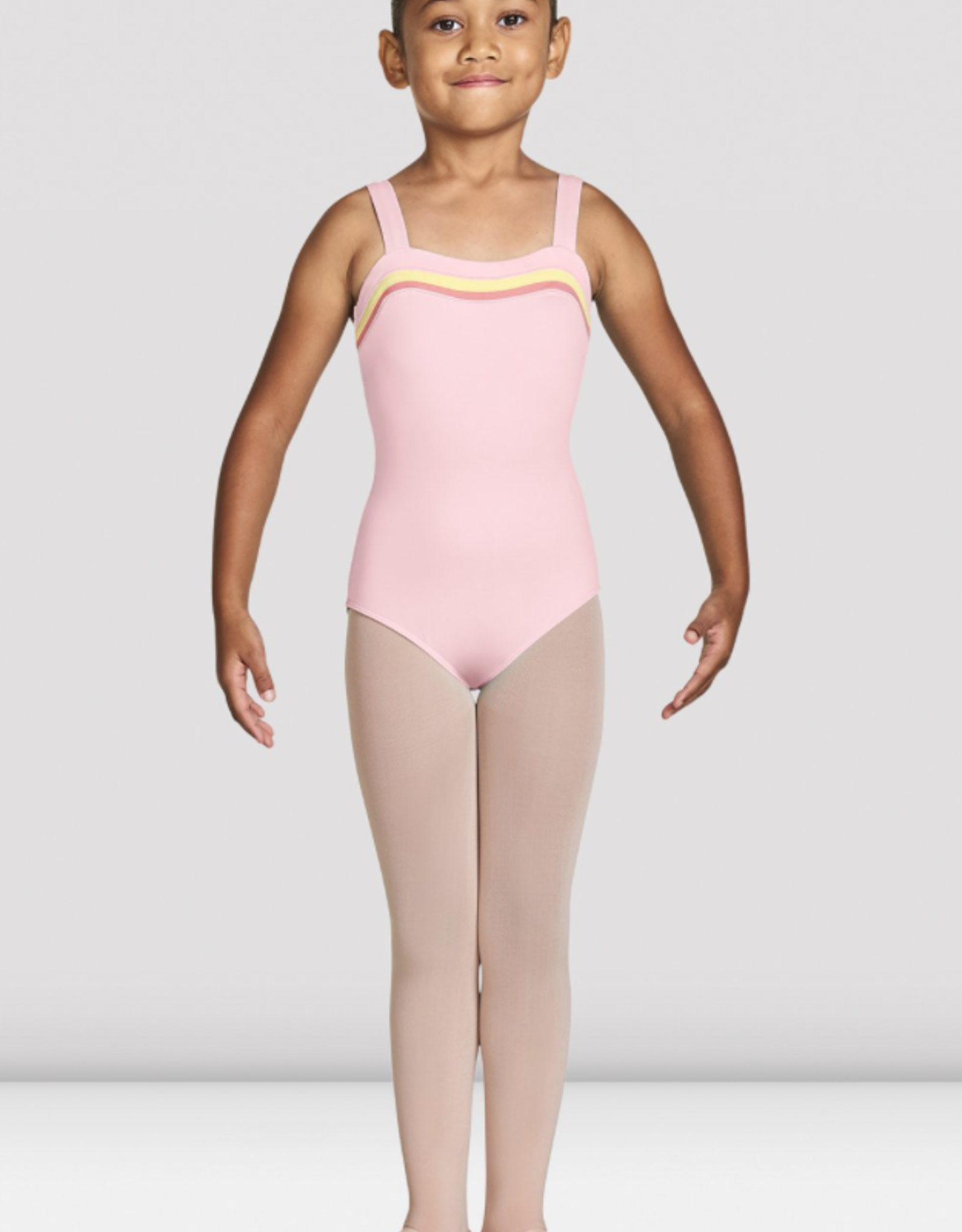 BLOCH TEAGAN CHILD STRIPE NECK CAMISOLE LEOTARD (CL8797)