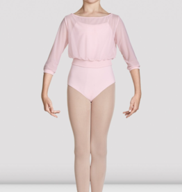 BLOCH TAZANNA CHILD 3/4 SLEEVE MESH TOP (CZ8106)