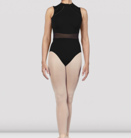 BLOCH SOLENE HIGH NECK MESH WAIST OPEN BACK LEOTARD (L4932)