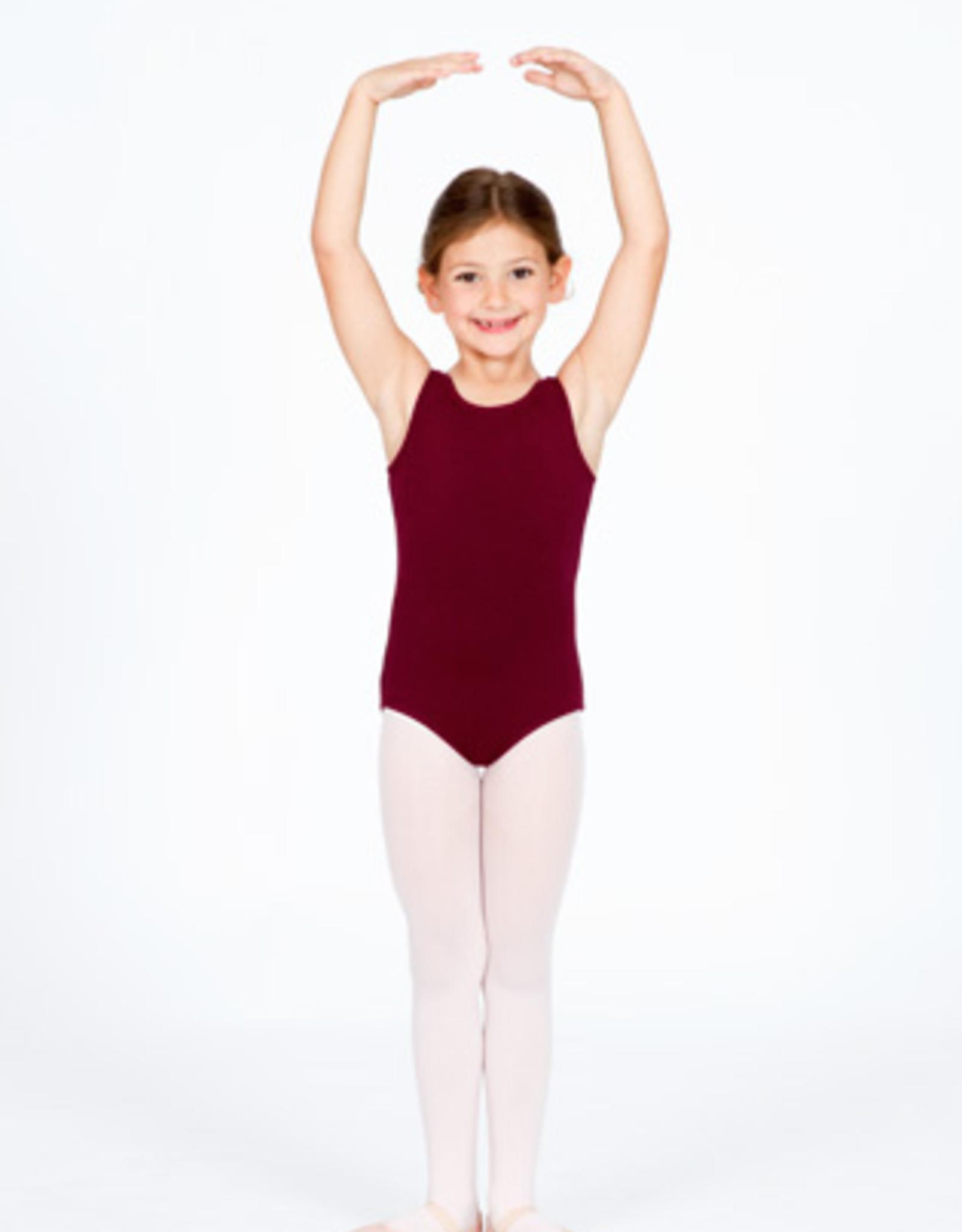 CAPEZIO CLASSIC HIGHT NECK CHILD TANK LEOTARD BURGUNDY (CC201C)