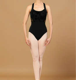BLOCH SABEL FLORIADE MESH WIDE STRAP LEOTARD (L7885)