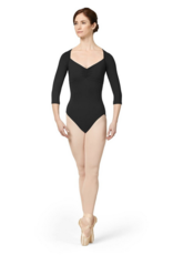 MIRELLA GATHERED MESH BACK 3/4 SLEEVE LEOTARD (M1016LM)