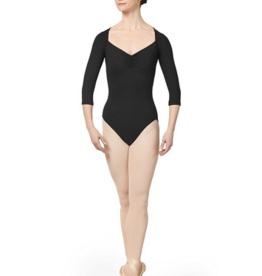 MIRELLA MAILLOT MANCHES 3/4 EN RESILLE FRONCEE (M1016LM)