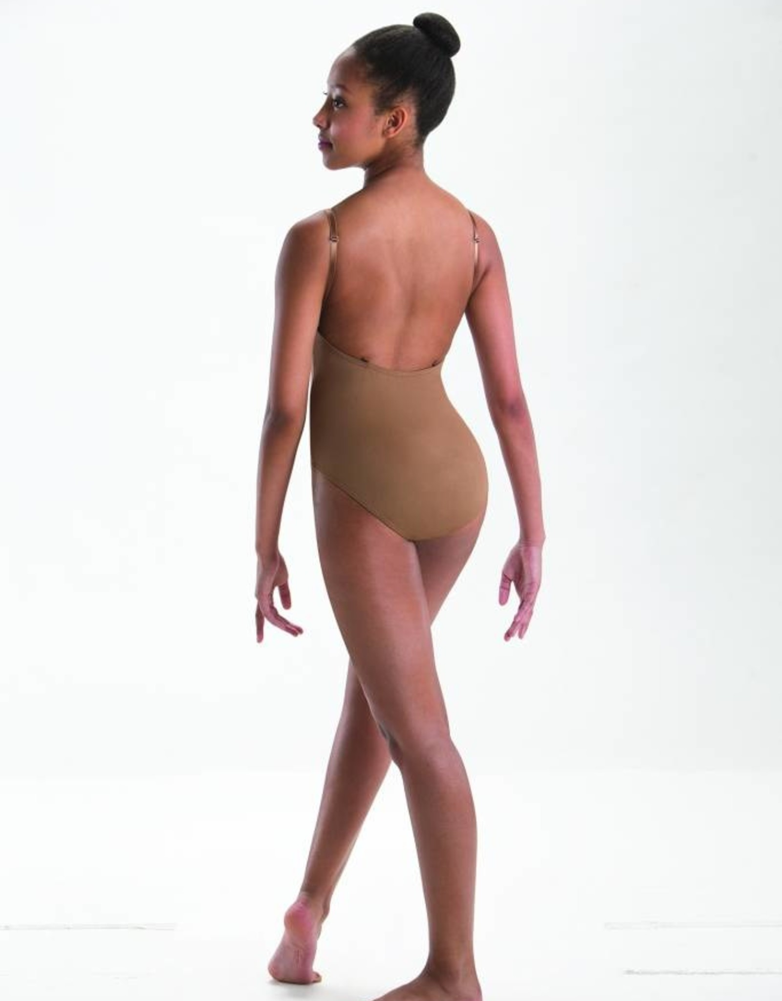 MOTIONWEAR CONVERTIBLE-STRAP LEOTARD WITH V-NECK (2487)