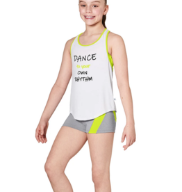 NEON BINDING PRINTED OPEN BACK TANK TOP CHILD (KA052T)