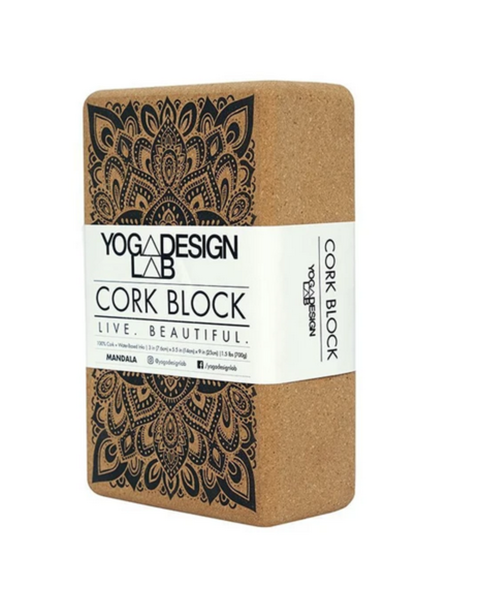 YOGA DESIGN LAB CORK YOGA BLOCK