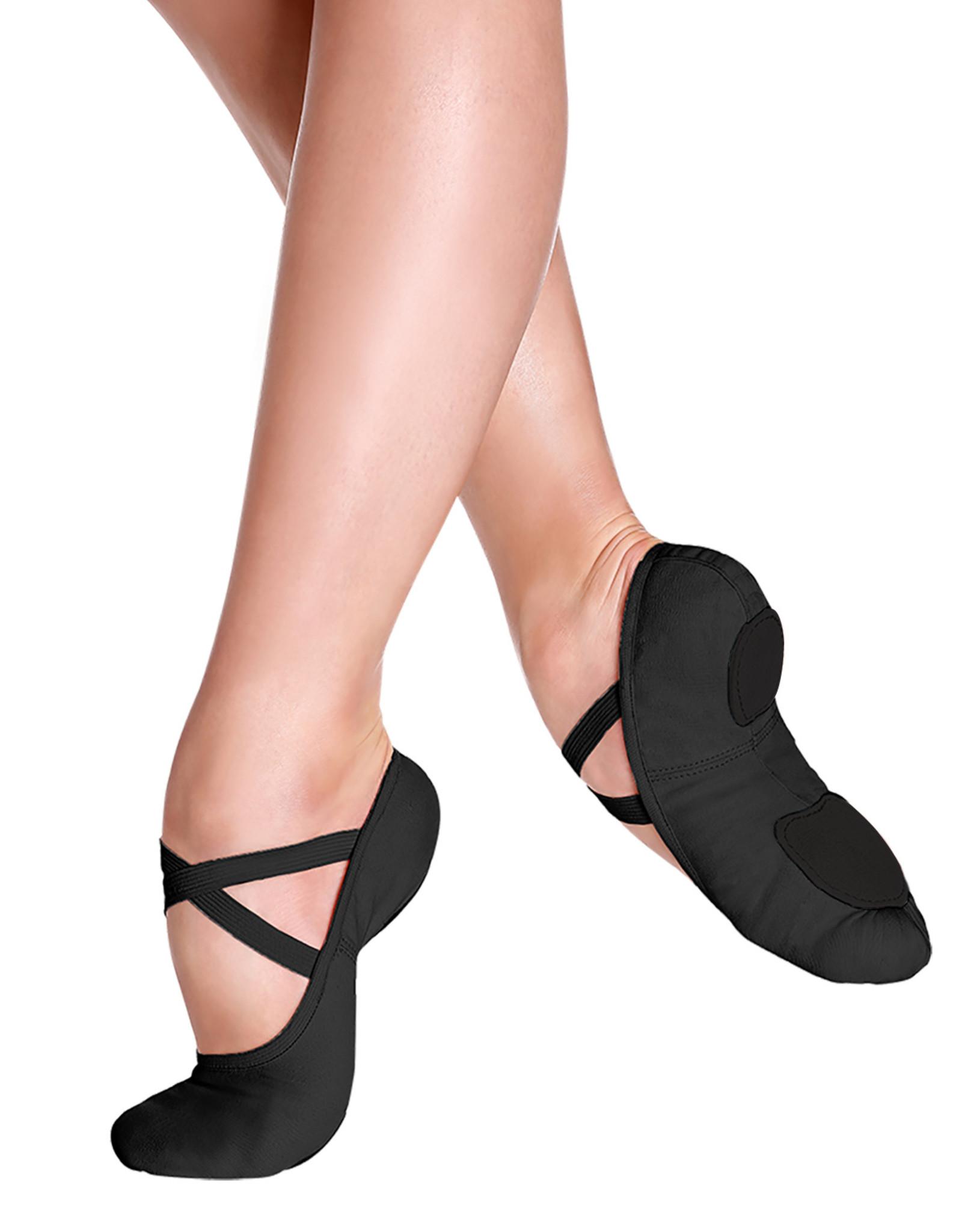 SO DANCA BLISS FULLY ELASTICEZ CANVAS SPLIT SOLE CHILD BALLET SLIPPERS (SD16C)