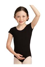 CAPEZIO CLASSIC COTTON SHORT SLEEVE CHILD LEOTARD BLACK (CC400C)