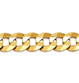 "Curb (7.6mm) 22"" Yellow Gold Chain"