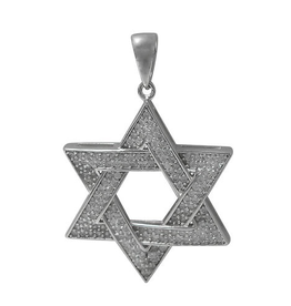 Sterling Silver Star of David CZ Pendant