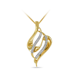 3D Leaf Diamond Pendant