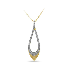 Pointed Split Drop Diamond Pendant