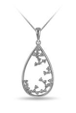 10K White Gold (0.34ct) Diamond Drop Pendant