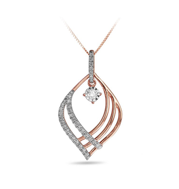 Pointed Multi Split Drop Diamond Pendant