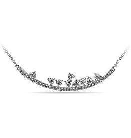 10K White Gold (0.51ct) Diamond Horizontal Necklace
