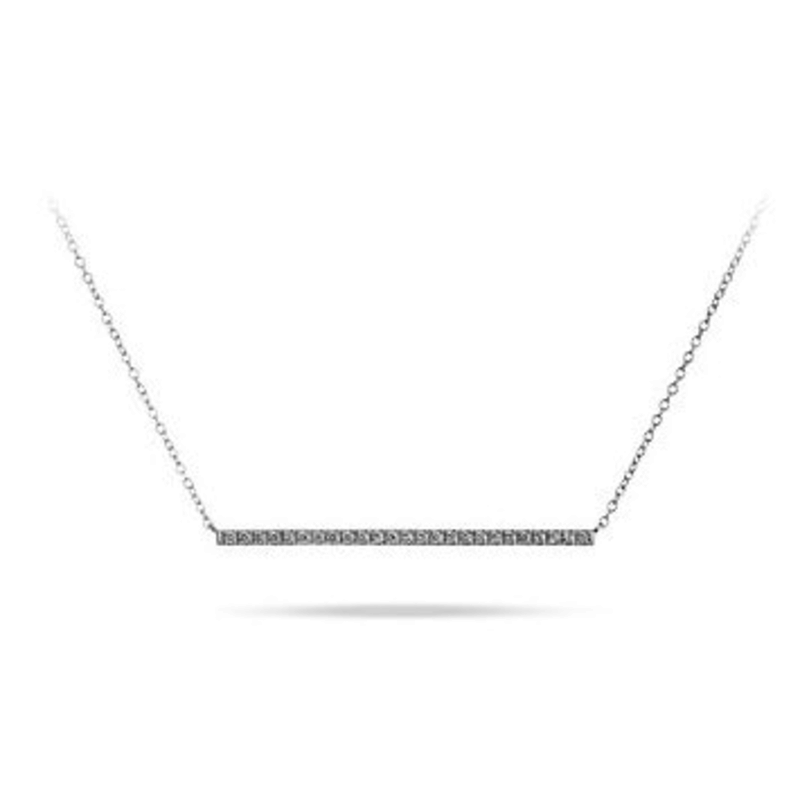 Horizontal Bar (0.05ct) 10K White Gold