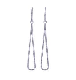 10K White Gold (0.28ct) Teardrop Dangle Earrings