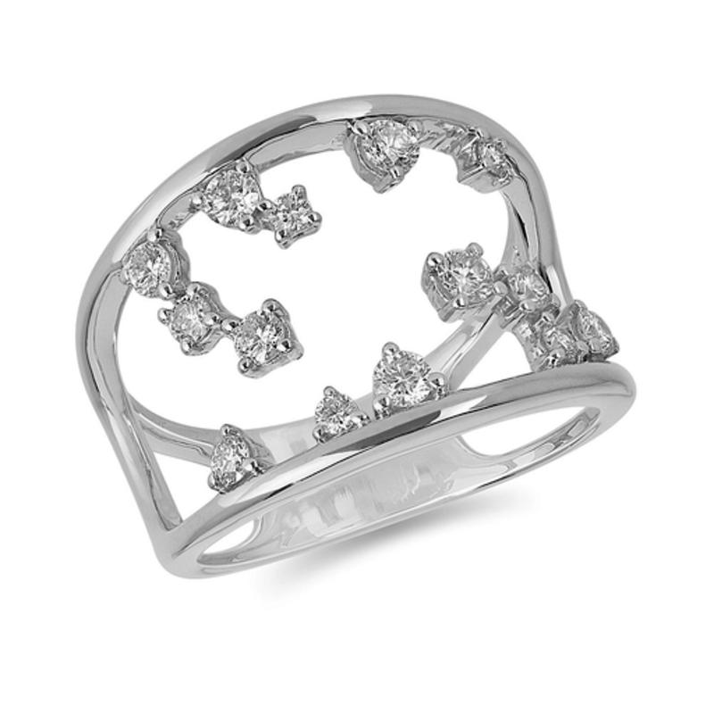 White Gold Diamond Splash Ring