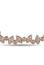 10K Rose Gold (0.16ct)  Diamond Horizontal Necklace