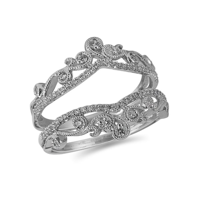 White Gold(0.33ct) Diamond Vintage Jacket Ring
