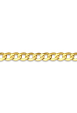 """Yellow Gold (3.2mm) Curb Ankle Bracelet 10"""""""