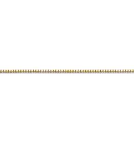 "Box (0.5mm) 20"" Yellow Gold Box Chain"