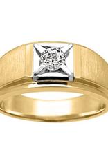 10K Yellow and White Gold (0.20ct) Diamond Men's Ring