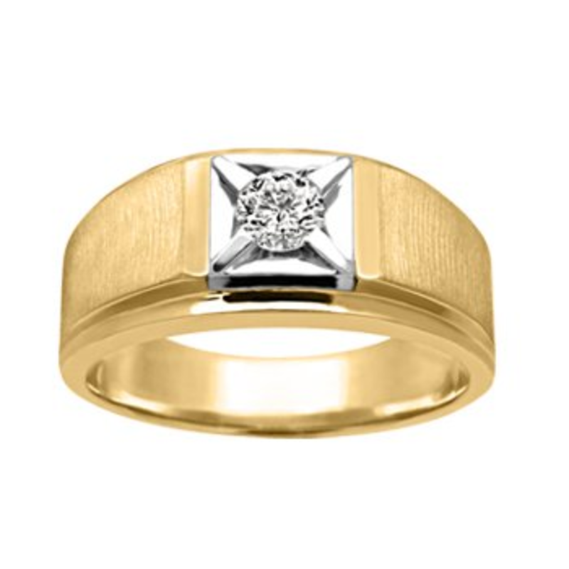 Yellow and White Gold (0.20ct) Diamond Ring
